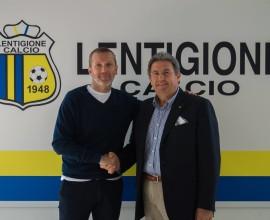 LENTIGIONE CALCIO_Mister Zattarin e il Presidente Benassi